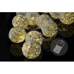 LED osvětlení - ratanové koule, 20 LED