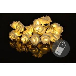 Dekorační LED osvětlení - růža - 20 LED, teplá bílá
