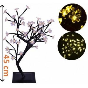 Dekorativní LED osvětlení - strom s kvítky, teple bílé