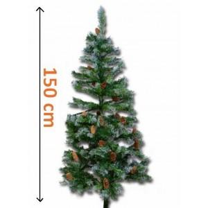 Umělý vánoční stromek se šiškami - 150 cm
