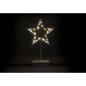 Vánoční dekorace - svítící hvězda na stojánku - 38 cm, 20 LED diod