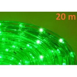 LED světelný kabel 20 m - zelená, 480 diod