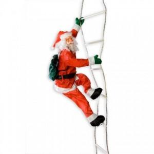 Santa na světelném žebříku 240 cm
