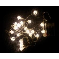 Vánoční světelný řetěz - sněhové hvězdy, teple bílý, 20 LED