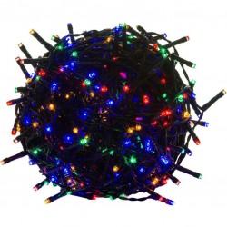 Vánoční LED osvětlení - 5 m, 50 LED, barevné, zelený kabel