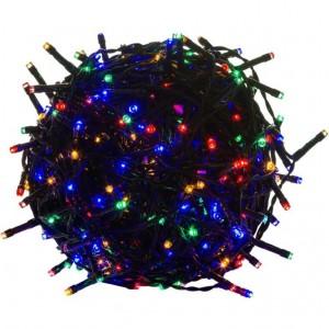 Vánoční LED osvětlení 5 m - barevné 50 LED - zelený kabel