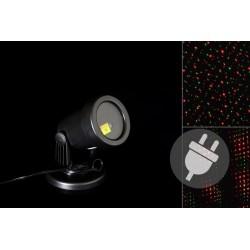 Venkovní LED projektor - červená a zelená, dosah 3 - 12 m