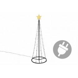 Vánoční dekorace - světelná pyramida, 180 cm, teple bílá