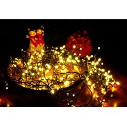 Vánoční LED řetěz - 10 m, 100 LED, teple bílý