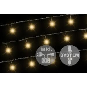 diLED světelný řetěz - 40 LED teple bílá + napájení