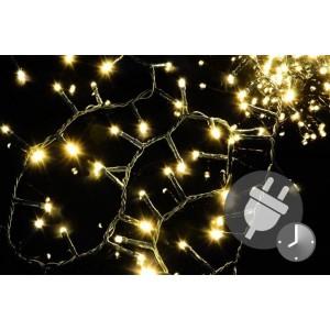 Vánoční LED osvětlení 500 diod - bohatý řetěz - teple bílá 10 m