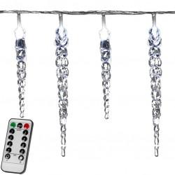 Vánoční dekorativní rampouchy - 40 LED, stud. bílé + ovladač