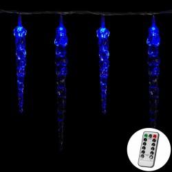 Vánoční osvětlení - rampouchy, 40 LED, modré + ovladač