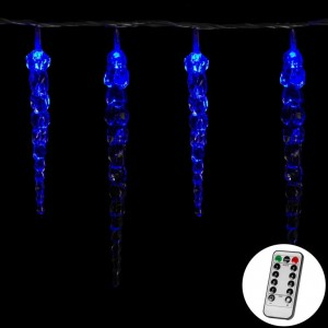 Vánoční dekorativní osvětlení - rampouchy - 40 LED modrá + ovladač