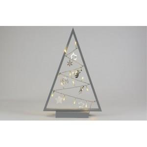 Světelná dekorace šedá - Vánoce - 20 LED teple bílá