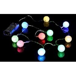 Vánoční řetěz - světelné koule, 10 LED, barevné