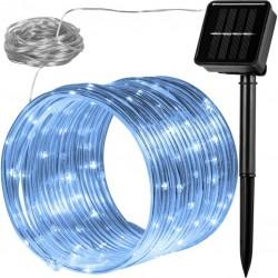 VOLTRONIC Solární světelná hadice - 100 LED, studeně bílá