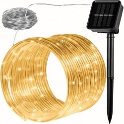 VOLTRONIC Solární světelná hadice - 100 LED, teple bílá