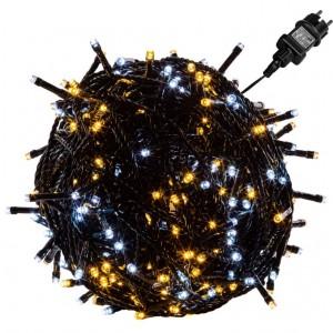 Vánoční osvětlení 40 m - teple/studeně bílá 400 LED