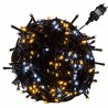 VOLTRONIC Vánoční řetěz - 20 m, 200 LED, teple/studeně bílý