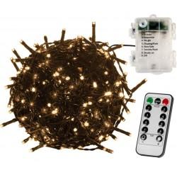 Vánoční osvětlení 10 m - teple bílé 100 LED na BATERIE