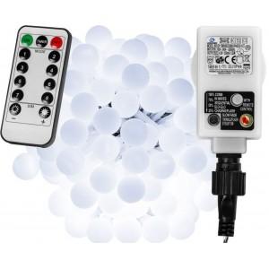 Párty osvětlení - 20 m, 200 LED diod, studeně bílé + ovladač