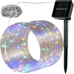 Solární světelná hadice - 100 LED, barevná