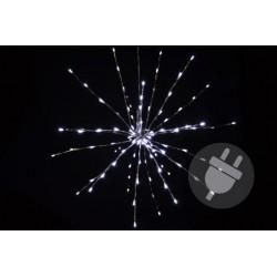 Vánoční osvětlení - meteorický déšť - studená bílá, 120 LED, 60 cm