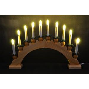 Vánoční dekorace - svícen s 10ti žárovkami