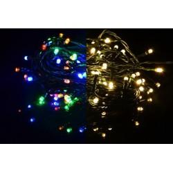 Vánoční světelný řetěz - 9,9 m, 100 LED,9 blikajících funkcí