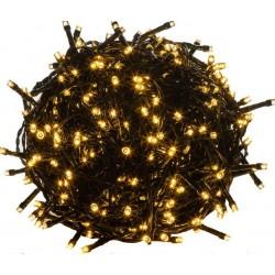 Vánoční LED osvětlení - 5 m, 50 LED,teple bílé, zelený kabel