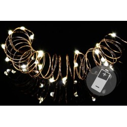Vánoční světelný řetěz - 10 MINI LED, teple bílý