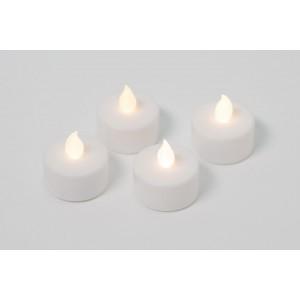 Dekorativní sada - 4 čajové svíčky - bílá
