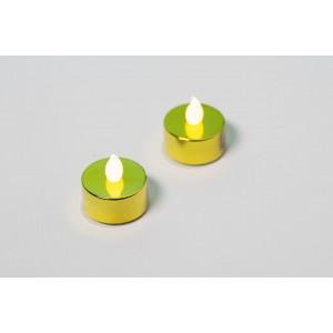 Dekorativní sada - 2 čajové svíčky - zlatá