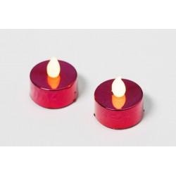 Dekorativní sada - 2 čajové svíčky, červené