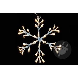 Vánoční LED dekorace - sněhová vločka - 30 cm teple bílá