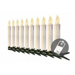Vánoční svíčky na stromeček - bezdrátové, 10 ks