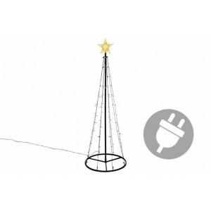 Vánoční dekorace - světelná pyramida stromek - 180 cm teple bílá