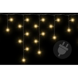 Vánoční světelný déšť 144 LED teple bílá - 5 m