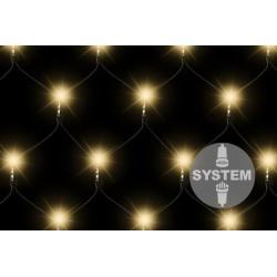 diLED světelná síť - 100 LED, teple bílá