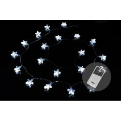 Vánoční osvětlení - hvězdy, studeně bílá