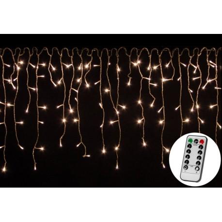 Vánoční světelný déšť 600 LED teple bílá - 15 m + ovladač