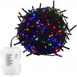 Vánoční osvětlení 10 m - barevné 100 LED na BATERIE