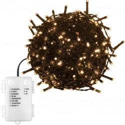 Vánoční osvětlení 20 m - teple bílá 200 LED na BATERIE
