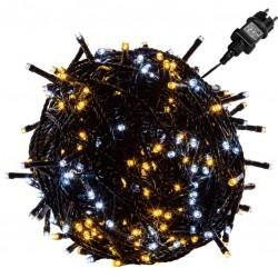 Vánoční osvětlení 60 m - teple/studeně bílá 600 LED