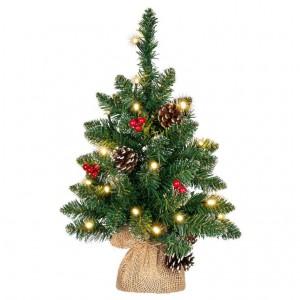 Vánoční stromek s osvětlením - 45 cm, 20 LED