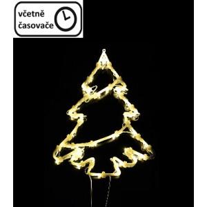 Vánoční dekorace na okno - 35 LED, strom