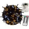 VOLTRONIC Vánoční řetěz 5 m, 50 LED, teple/stud.bílý+ovladač