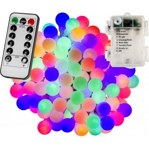 Párty osvětlení - 10 m, 100 LED diod, barevné, na baterie