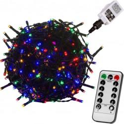 VOLTRONIC Vánoční řetěz - 60 m, 600 LED, barevný + ovladač